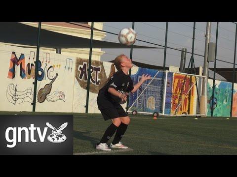 Dubai girl captains boys football team