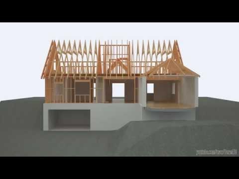 Revit & 3ds Max - building a timber framed detached house