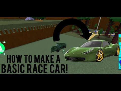 Roblox - Build a Boat for Treasure: HOW TO *BUILD A BASIC RACE CAR!*