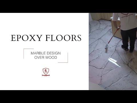 Metallic Epoxy Coating | Marble Design over Wood Sub-floor Tutorial