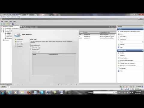 Creating a Mailbox in Exchange Server 2007