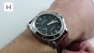 check out 2e5bc 3ff4a Panerai Luminor Marina Blue Dial PAM00119 沛納海 파네라이 ...