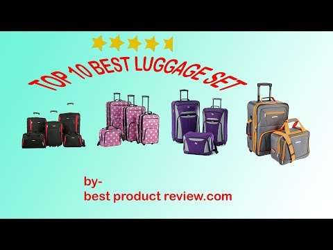 Luggage sets on sale ? Best cheap lightweight carry on luggage sets  for men and women.