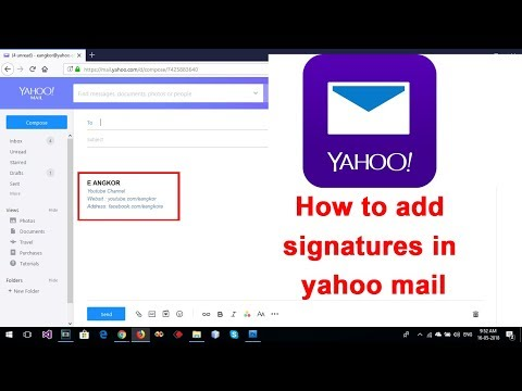 [New Update] - How to add signatures in yahoo mail