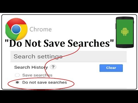 Google Chrome Search History Settings,Do not Save My Searches Option how to enable it