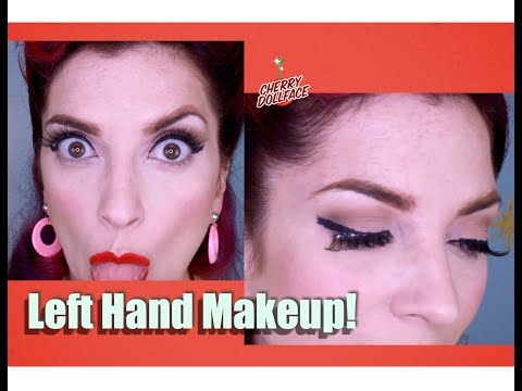 I Did My Makeup With My Left Hand! CHERRY DOLLFACE