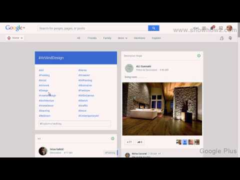 Google+ - How To See Art And Design Posts On Google Plus