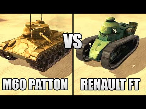 M60 PATTON VS RENAULT FT TANKS! YOU NEED TO SEE THESE TANKS NOT IN GTA 5!