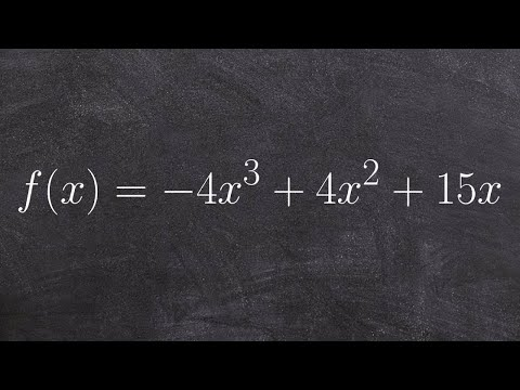 Using end behavior, zeros and the intermediate value theorem to graph a polynomial