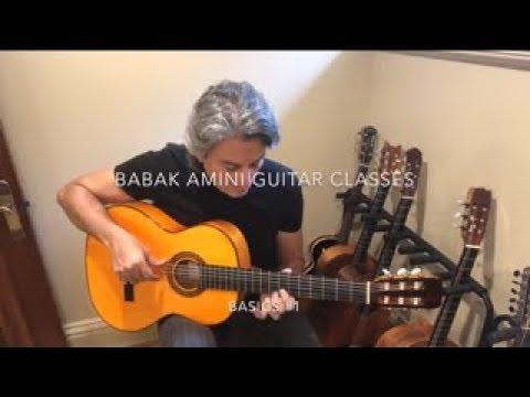 BABAK AMINI GUITAR CLASSES , BASICS# 1