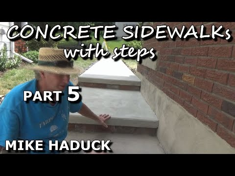 How I float finish concrete (Part 5 of 6) Mike Haduck (steps)