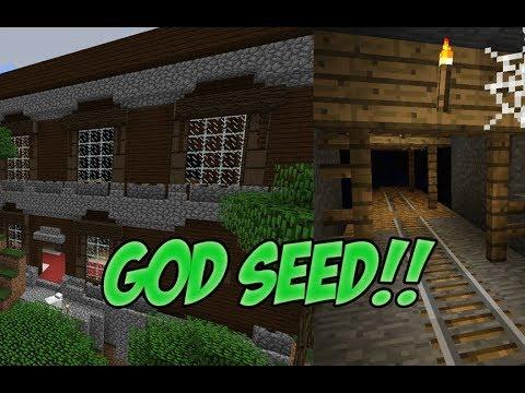 MINECRAFT PS4 GOD SEED 3x MANSION + 3x MINESHAFT!!!