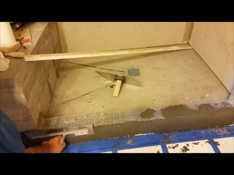 How To Build and Float A Shower Curb  - Part 1 - Step by Step
