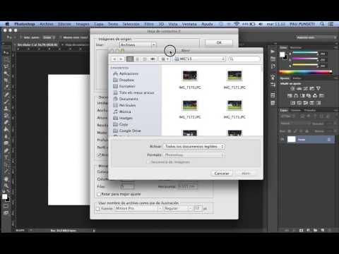 Crear Hoja de Contactos (Adobe PhotoShop y Bridge
