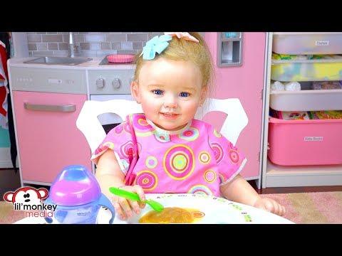 👶🏼 My Reborns! My 1st Reborn Toddler Doll - Julie's Lunch Routine!