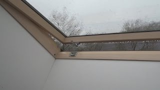 ☔️ Rain On Roof Window Sounds For Sleeping, Relaxing ~ Glass Skylight Water Drops Downpour Ambience