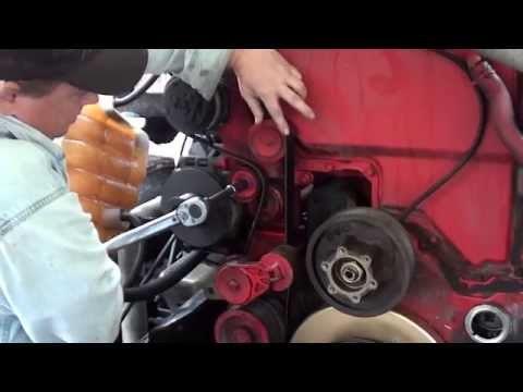 Cummins ISX How to install AC belt by Rawze