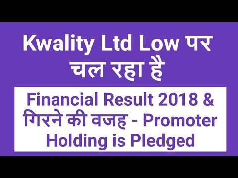 Kwality Ltd Low पर चल रहा है - Financial Result 2018 & Promoter Holding is Pledged
