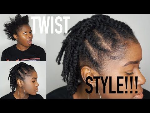 Quick & Easy Flat Twist Protective Style on my Short Fine 4c Natural Hair!!!|Mona B.