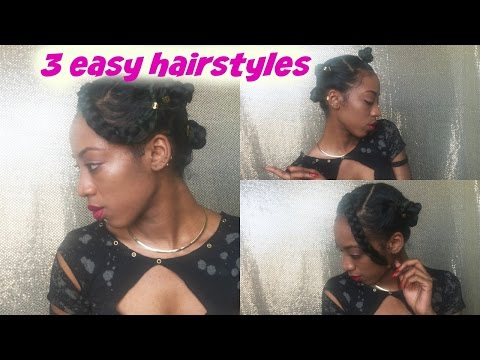3 easy hairstyles in one | New Year Resolutions!!