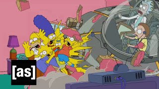 Simpsons Couch Gag | Rick and Morty | Adult Swim