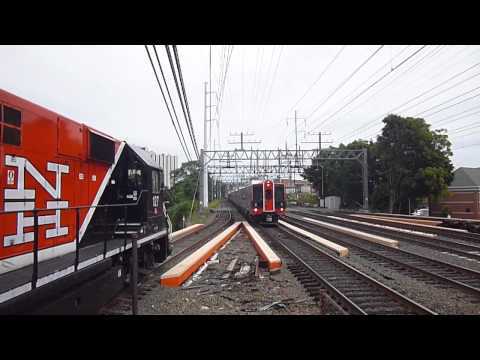 Metro North M8s on Train #6527 in South Norwalk, CT