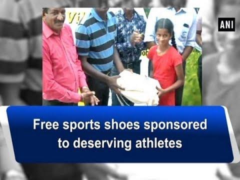 Free sports shoes sponsored to deserving athletes - Tamil Nadu