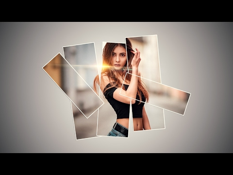 Photoshop Tutorial: How to make photo collage | How To Create Vertical Panels collage