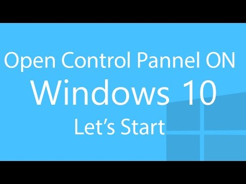 How To Open Control Panel On Windows 10