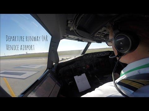 Departure runway 04R Venice Marco Polo Airport (VCE LIPZ)