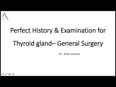 Perfect History & Examination for Thyroid case for Clinical exams || General Surgery