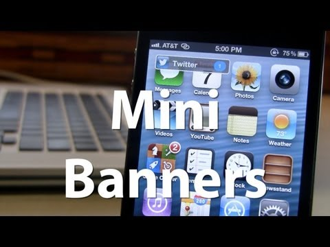 MiniBanners - Small Notification Banners on iPhone - Remove Content on Banner