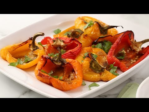 Roasted Peppers with Garlic and Herbs- Martha Stewart