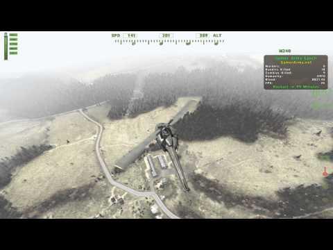 DayZ mod heli testing (refueling +lost way + landing)