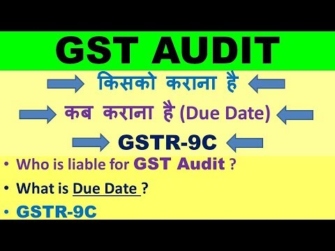 GST AUDIT, AUDIT UNDER GST, WHO IS LIABLE FOR AUDIT UNDER GST, GST AUDIT DUE DATE
