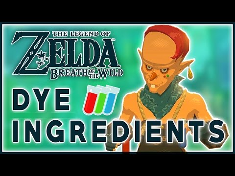 All Dye Ingredients - BREATH OF THE WILD
