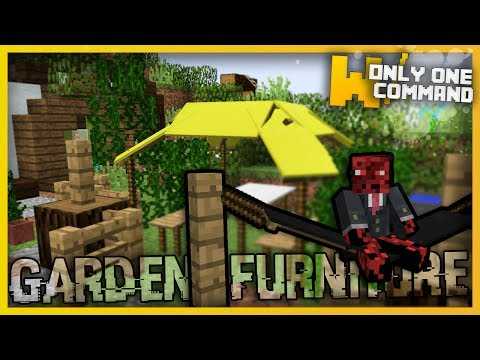 Minecraft - Garden Furniture with Only Two Command Blocks (Gazebos, Hammocks & more!)