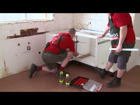How To Install U-Shaped Kitchen Cabinets - DIY At Bunnings
