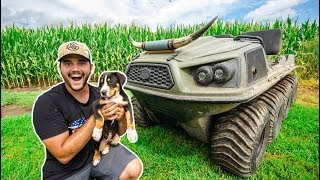 Taking My PUPPY to My FARM for the FIRST TIME!!! (Bad Idea)