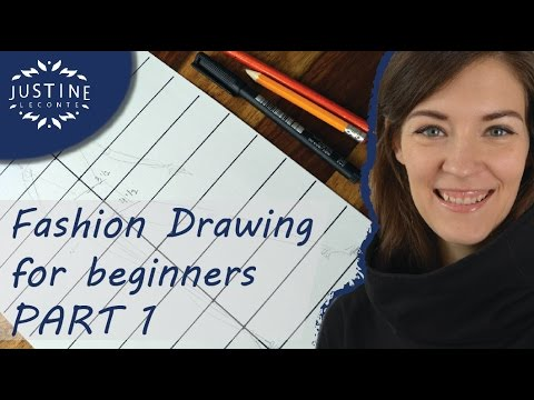 How to draw  | TUTORIAL | Fashion drawing for beginners #1 | Justine Leconte