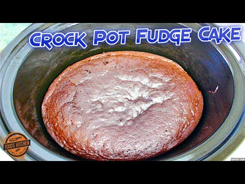 Crock Pot Chocolate Fudge Cake recipe - How to make video