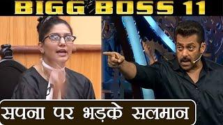 Bigg Boss 11: Salman Khan LASHES OUT at Sapna Chaudhary during Weekend Ka Vaar | FilmiBeat