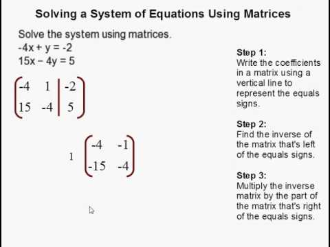 How to Solve a System of Equations Using Matrices