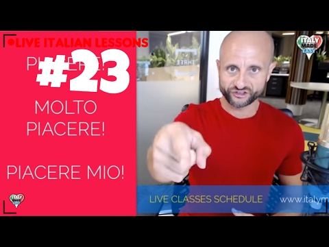 PRACTICE Beginner Italian Now and Speak Italian MOLTO PIACERE: Learn Italian Online LIVE