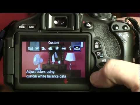 Canon 600D/550D T3i custom white balance