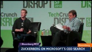 Mark Zuckerberg: Bill Gates Was My Hero Growing Up