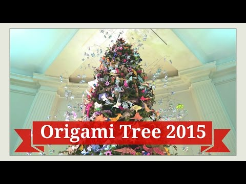 Origami Tree - Origami Christmas Tree - Museum of Natural History - Holiday New York City NYC 2015