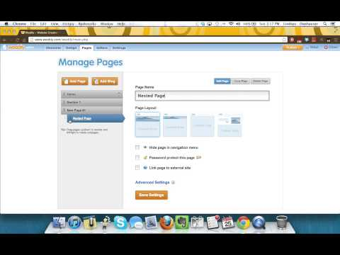 Add Pages in Weebly