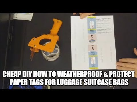 Cheap DIY How To Weatherproof & Protect Paper Tags For Cruise Airplane Train Luggage Suitcase Bags