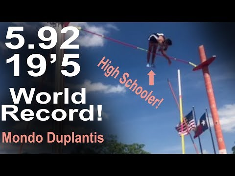 Another Mondo World Record 5.92 !   Team Hoot Pole vault